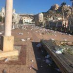 APHA transmite su indignación por el lamentable estado de la zona del Puerto de Alicante tras el sábado de Carnaval