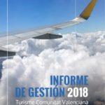 Turisme Comunitat Valenciana publica el Informe de Gestión 2018